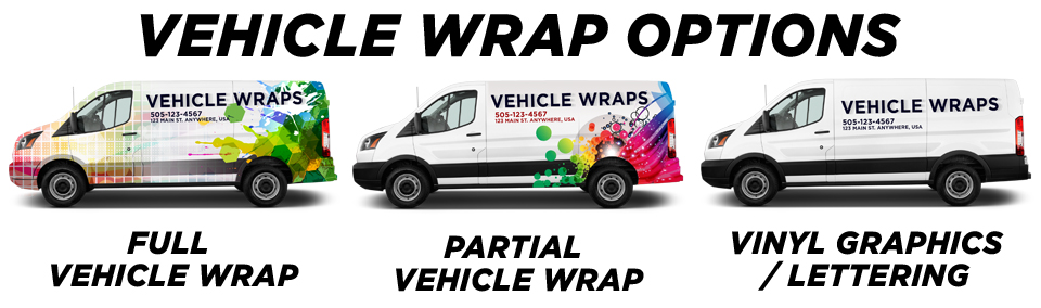 Commercial Vehicle Wraps, Lettering, & Graphics vehicle wrap options